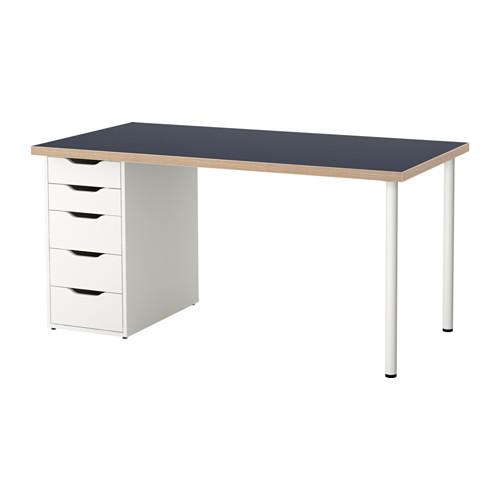 【特選商品】【IKEA/イケア/通販】 LINNMON / ALEX テーブル, ブルー, ホワイト(a)(S49222617)