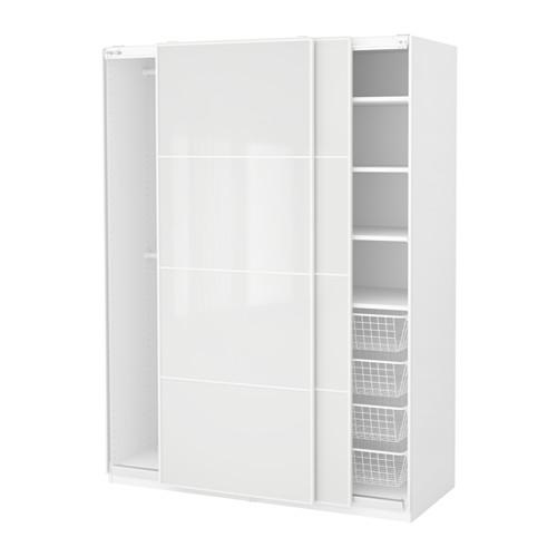【IKEA/イケア/通販】 PAX ワードローブ, ホワイト, フェールヴィーク ホワイトガラス(a)(S99163173)