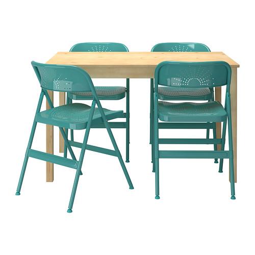 円高還元 【IKEA/イケア/通販】 INGO インゴー// パイン材, FRODE フロデ テーブル&チェア4脚, パイン材, ターコイズ(a)(S99932074), ジグソーパズル友蔵:be0e1be1 --- canoncity.azurewebsites.net