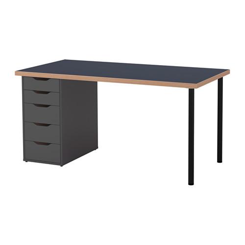 【特選商品】【IKEA/イケア/通販】 LINNMON / ALEX テーブル, ブルー, グレー(a)(S89217497)
