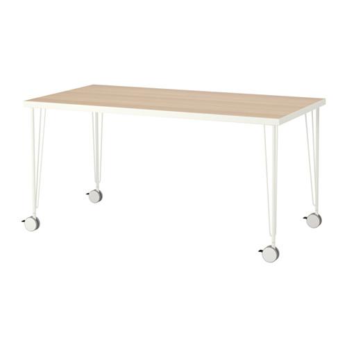 【特選商品】【IKEA/イケア/通販】 LINNMON / KRILLE テーブル, ホワイト ホワイトステインオーク調, ホワイト(a)(S79216653)