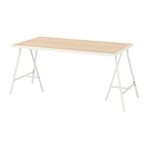 【特選商品】【IKEA/イケア/通販】 LINNMON / LERBERG テーブル, ホワイト ホワイトステインオーク調, ホワイト(a)(S99216666)