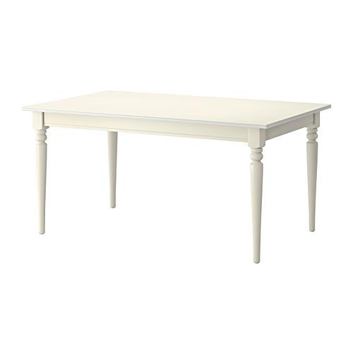 【IKEA/イケア/通販】 INGATORP 伸長式テーブル, ホワイト(a)(50365525)