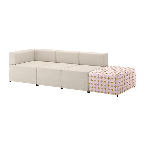 【IKEA/イケア/通販】 KUNGSHAMN 4人掛けモジュールソファ, イーデクッラ ベージュ, イッテレード マルチカラー マルチカラー(a)(S19248181)