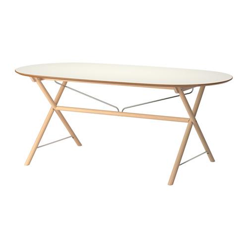 【IKEA/イケア/通販】 SLÄHULT テーブル, ホワイト, ダールスフルト バーチ(a)(S19250701)