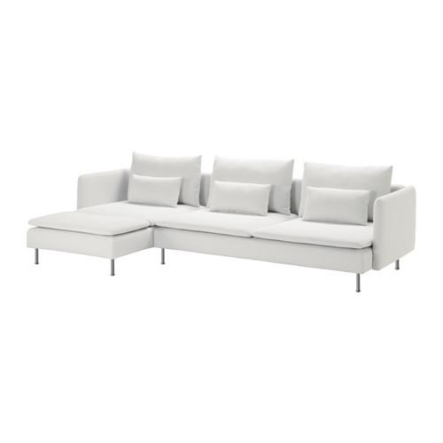 【IKEA/イケア/通販】 SÖDERHAMN 4人掛けソファ, 寝椅子付き フィーンスタ, フィーンスタ ホワイト(a)(S29135961)