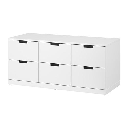 最新コレックション 【IKEA/イケア NORDLI/通販】 NORDLI チェスト(引き出し×6), ホワイト(a)(S09208425), 大好き:927ea385 --- construart30.dominiotemporario.com