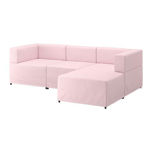 【IKEA/イケア/通販】 KUNGSHAMN 3人掛けモジュールソファ, イーデクッラ ピンク(a)(S09251386)