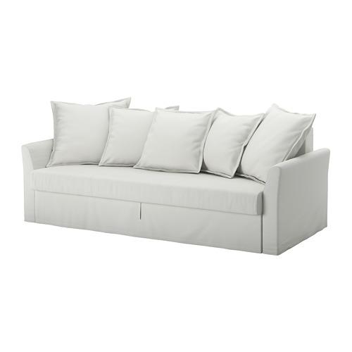 【IKEA/イケア/通販】 HOLMSUND 3人掛けソファベッド, オッルスタ ライトホワイトグレー(a)(S69240762)