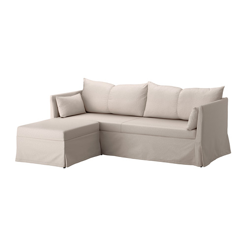 【IKEA/イケア/通販】 SANDBACKEN コーナーソファ、3人掛け, ローファレット ベージュ(a)(S39217843)