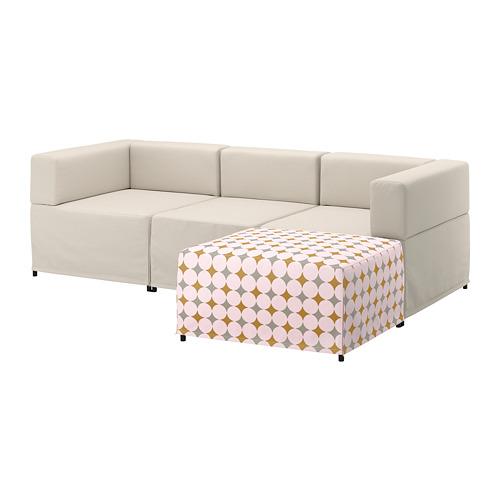 【IKEA/イケア/通販】 KUNGSHAMN 3人掛けモジュールソファ, イーデクッラ ベージュ, イッテレード マルチカラー マルチカラー(a)(S59251379)