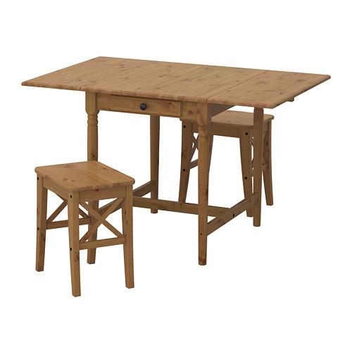 【IKEA/イケア/通販】 INGATORP / INGOLF テーブル&チェア2脚, アンティークステイン アンティークステイン(a)(S69251289)