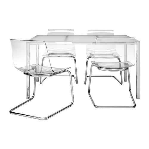 柔らかな質感の 【IKEA TOBIAS/イケア/通販/】 TORSBY/ ガラス TOBIAS テーブル&チェア4脚, ガラス ホワイト, 透明(c)(S69197419), パーティードレス通販ナイトワン:5cad509d --- supercanaltv.zonalivresh.dominiotemporario.com