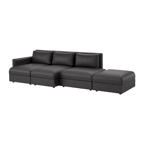 【IKEA/イケア/通販】 VALLENTUNA 4人掛けソファ, ムールム ブラック(b)(S49149434)