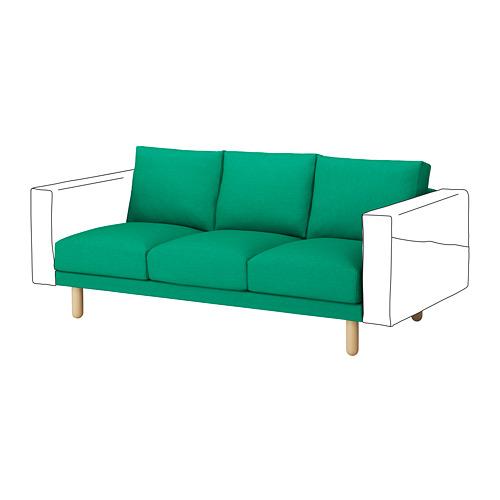 【IKEA/イケア/通販】 NORSBORG 3人掛けソファセクション, エードゥム ブライトグリーン, バーチ(a)(S59241837)