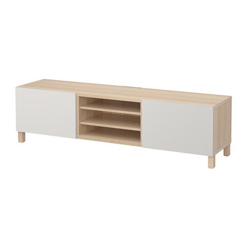 【IKEA/イケア/通販】 BESTÅ テレビ台 引き出し付き, ホワイトステインオーク調, ラップヴィーケン ライトグレー(a)(S49198783)
