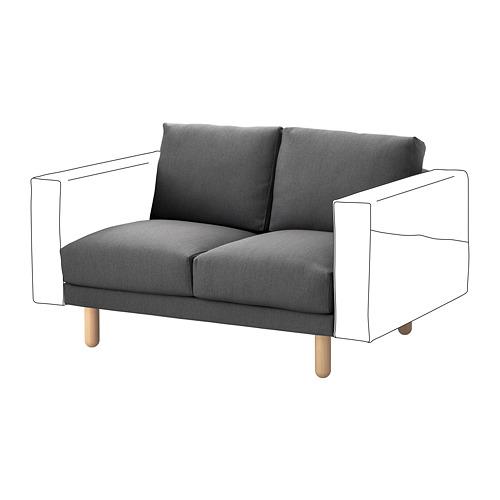 【IKEA/イケア/通販】 NORSBORG 2人掛けソファセクション, フィーンスタ ダークグレー, バーチ(a)(S49242074)