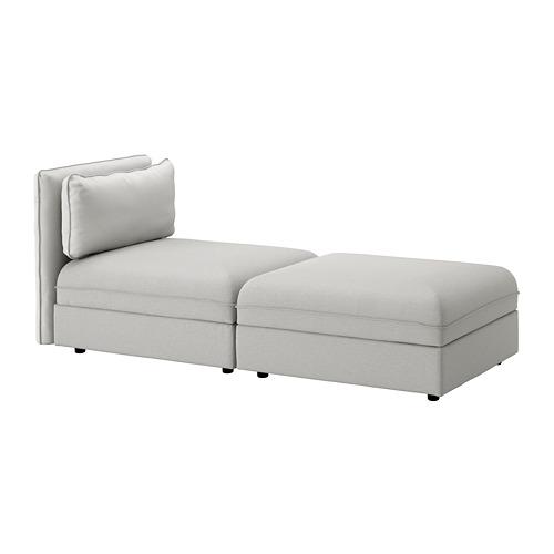 【IKEA/イケア/通販】 VALLENTUNA 2人掛けソファ, オッルスタ ライトグレー(c)(S59247976)