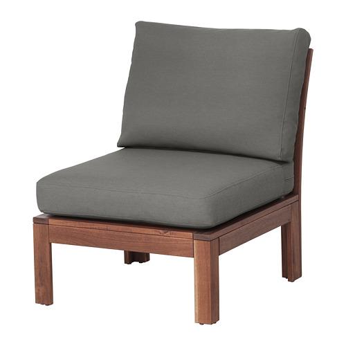【IKEA/イケア/通販】 ÄPPLARÖ イージーチェア 屋外用, ブラウンステイン, フローソーン/デューヴホルメン ダークグレー(S69259964)