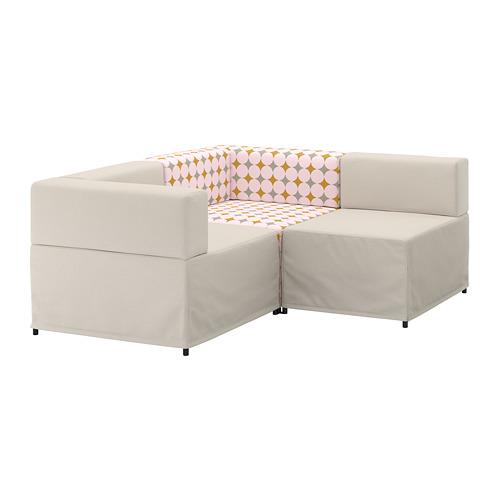 【IKEA/イケア/通販】 KUNGSHAMN モジュールソファ、2人掛け, イーデクッラ ベージュ, イッテレード マルチカラー マルチカラー(a)(S79249540)