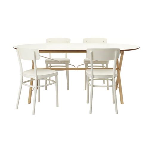 【IKEA/イケア/通販】 SLÄHULT/DALSHULT スレーフルト/ダールスフルト / IDOLF イードルフ テーブル&チェア4脚, バーチ, ホワイト(a)(S99250702)