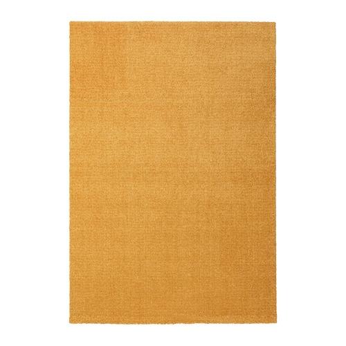 【IKEA/イケア/通販】 LANGSTED ラングステド ラグ パイル短, イエロー(d)(00408056)