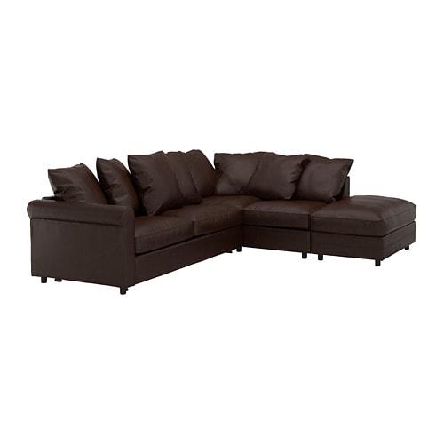 【IKEA/イケア/通販】 GRÖNLID グローンリード コーナーソファベッド 4人掛け, オープンエンド, キムスタ-ド ダークブラウン(a)(S39278577)