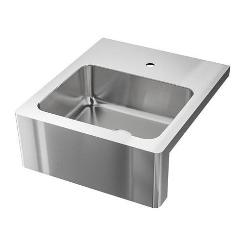 【IKEA/イケア/通販】 BREDSJÖN ブレードショーン シンクボウル フロント見せタイプ, ステンレススチール(a)(S49289561)