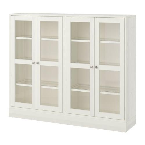 【IKEA/イケア/通販】 HAVSTA ハーヴスタ 収納コンビネーション ガラス扉付き, ホワイト(a)(S39265947)