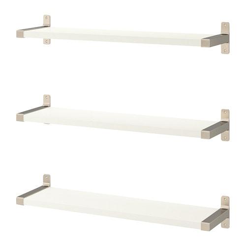 【IKEA/イケア/通販】 BERGSHULT ベリスフルト / GRANHULT グランフルト ウォールシェルフコンビネーション, ホワイト, ニッケルメッキ(a)(S59291083)