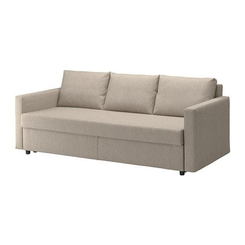 【IKEA/イケア/通販】 FRIHETEN フリーヘーテン 3人掛けソファベッド, ヒリエ ベージュ(a)(80431717)