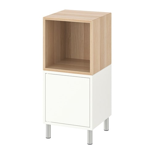 【IKEA/イケア/通販】 EKET エーケト キャビネットコンビネーション 脚付き, ホワイト, ホワイトステインオーク調(a)(S99286414)