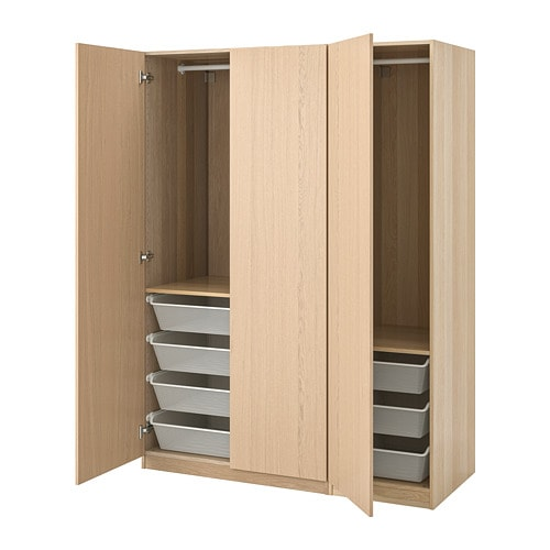 IKEA イケア ベッドルーム ワードローブ 大人気 幅150-199cm 通販 今ダケ送料無料 ホワイトステインオーク調 フォルサンド a PAX S79286090 パックス