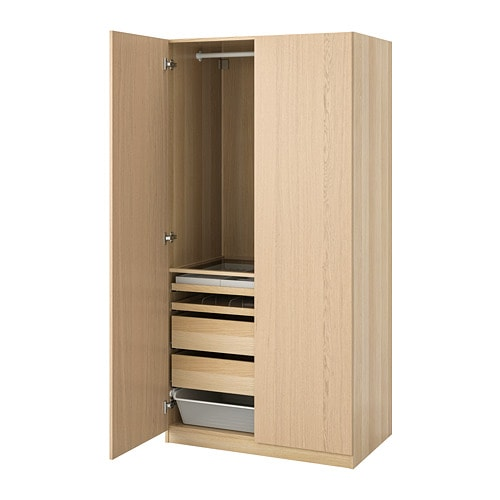 【IKEA/イケア/通販】 PAX パックス ワードローブ, ホワイトステインオーク調, フォルサンド(S89286872)