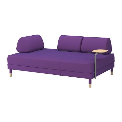 【IKEA/イケア/通販】 FLOTTEBO フロッテボー ソファベッド サイドテーブル付き, ヴィースレ パープル(a)(S39297439)
