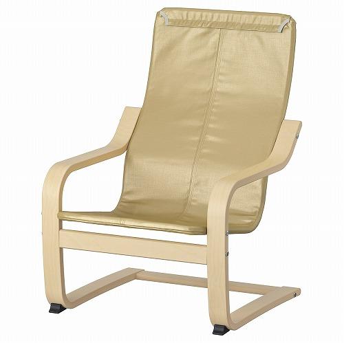 IKEA WEB限定 イケア 家具 パーソナルチェア 一人用ソファ 通販 D ポエング 60418057 バーチ材突き板 子ども用アームチェアフレーム POAuml;NG 日本
