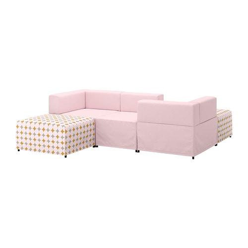 【IKEA/イケア/通販】 KUNGSHAMN クングスハムン 3人掛けモジュールソファ, イーデクッラ ピンク, イッテレード マルチカラー(a)(S59251402)