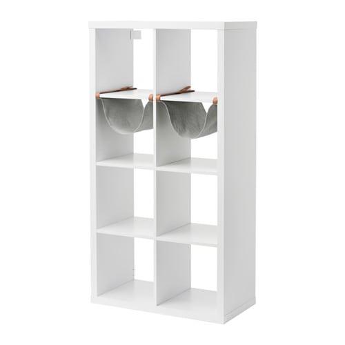 【IKEA/イケア/通販】 KALLAX カラックス シェルフユニット インサート2個付き, ホワイト(a)(S09207039)