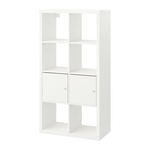 【IKEA/イケア/通販】 KALLAX カラックス シェルフユニット 扉付き, ホワイト(a)(S99197432)