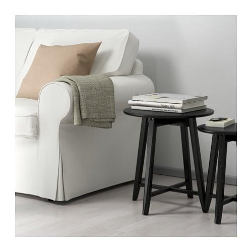 【IKEA/イケア/通販】 KRAGSTA クラーグスタ ネストテーブル2点セット, ブラック(d)(10353058)
