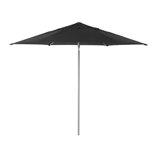 【IKEA/イケア/通販】 KUGGÖ クッゴー / LINDÖJA リンドヤ パラソル, ブラック(S69267803)