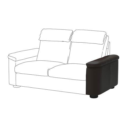 【IKEA/イケア/通販】 LIDHULT リードフルト アームレスト, グラン/ボームスタード ダークブラウン(a)(30407022)