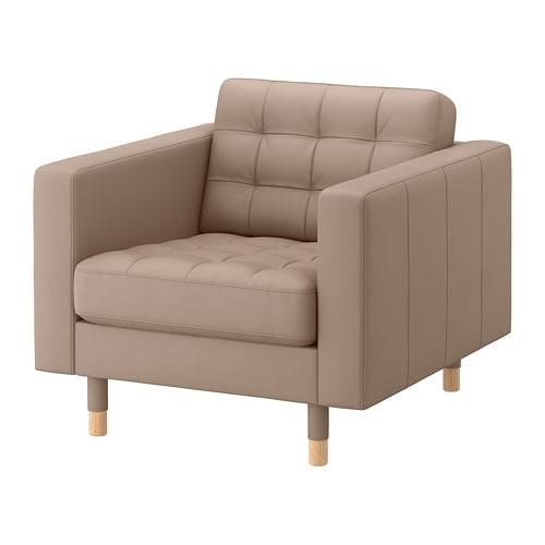 【IKEA/イケア/通販】 LANDSKRONA ランズクローナ アームチェア, グラン, ボームスタード ダークベージュ/ウッド(a)(S69275695)