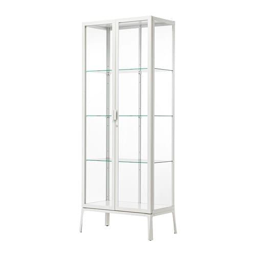 【IKEA/イケア/通販】 MILSBO ミルスボ ガラス扉キャビネット, ホワイト(a)(10396425)