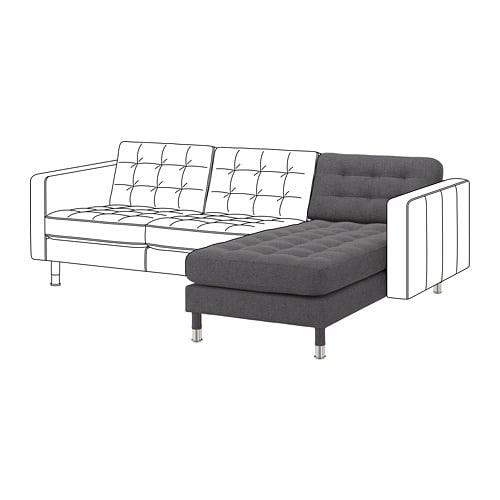 【IKEA/イケア/通販】 LANDSKRONA ランズクローナ 追加用寝椅子, グンナレド ダークグレー/メタル(a)(S59270245)