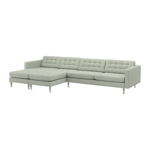 【IKEA/イケア/通販】 LANDSKRONA ランズクローナ 5人掛けソファ, 寝椅子付き, グンナレド ライトグリーン/メタル(a)(S19269989)【代引不可商品】