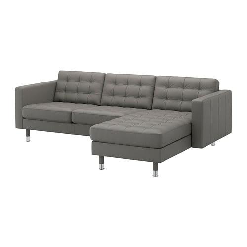 【IKEA/イケア/通販】 LANDSKRONA ランズクローナ 3人掛けソファ, 寝椅子付き, グラン/ボームスタード グレーグリーン/メタル(a)(S79275789)【代引不可商品】