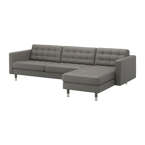 【IKEA/イケア/通販】 LANDSKRONA ランズクローナ 4人掛けソファ, 寝椅子付き, グラン/ボームスタード グレーグリーン/メタル(a)(S09275801)【代引不可商品】