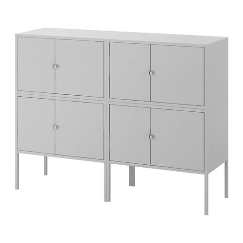 高級品市場 【IKEA/イケア LIXHULT/通販】 LIXHULT リックスフルト キャビネットコンビネーション, グレー(a)(S09279187), 最新作:eb6a9eb2 --- canoncity.azurewebsites.net