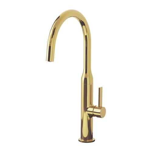 【IKEA/イケア/通販】 NYVATTNET ニーヴァトネット キッチン混合栓, ポリッシュ ポリッシュブラス(a)(40341672)
